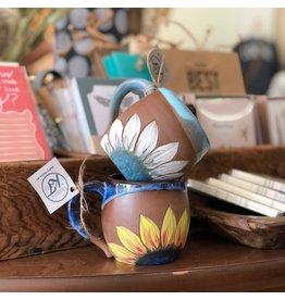 The Florist & The Merchant Handcrafted Sunflower Mugs