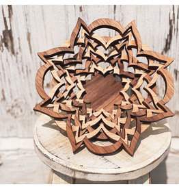 The Florist & The Merchant Layered Handmade Wooden Bowl