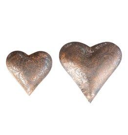 The Florist & The Merchant Metal Heart Trays, Set of 2