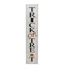"""The Florist & The Merchant 8"""" x 39 1/2"""" Wooden Sign, Trick or Treat"""