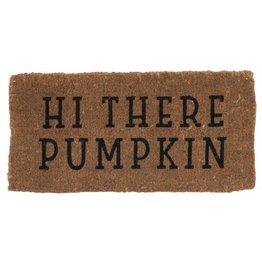 """The Florist & The Merchant Natural Coir """"Hi There Pumpkin"""" Doormat"""