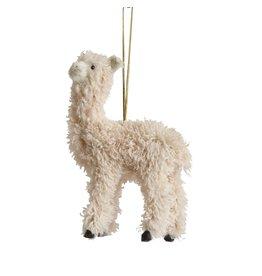 "The Florist & The Merchant 5"" Furry Llama Ornament"