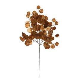 The Florist & The Merchant Faux Gold Glitter Eucalyptus Leaf Spray