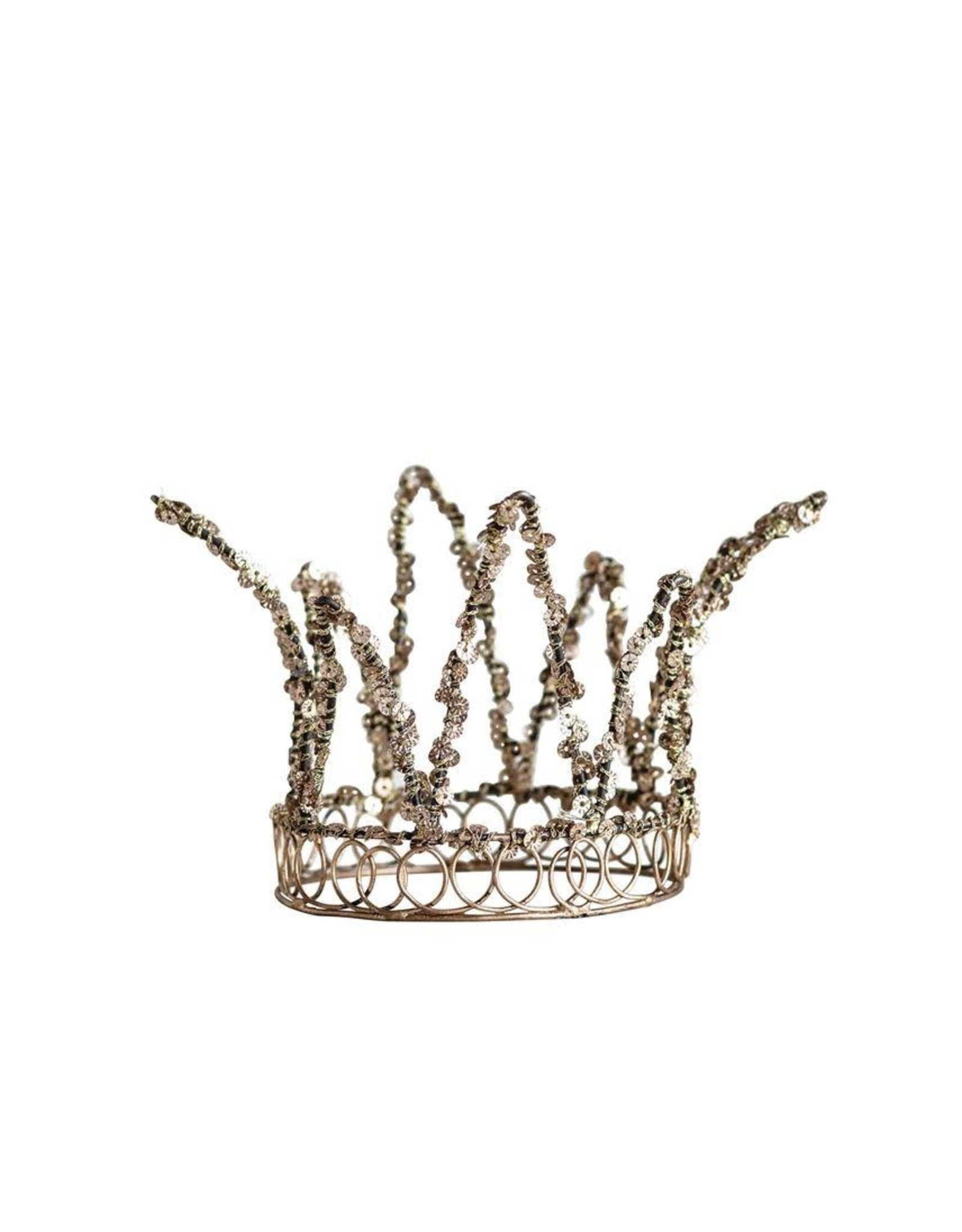 """The Florist & The Merchant 6"""" Wire Sequined Crown"""