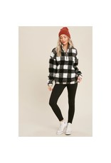 The Florist & The Merchant Buffalo Check Sherpa Pull Over
