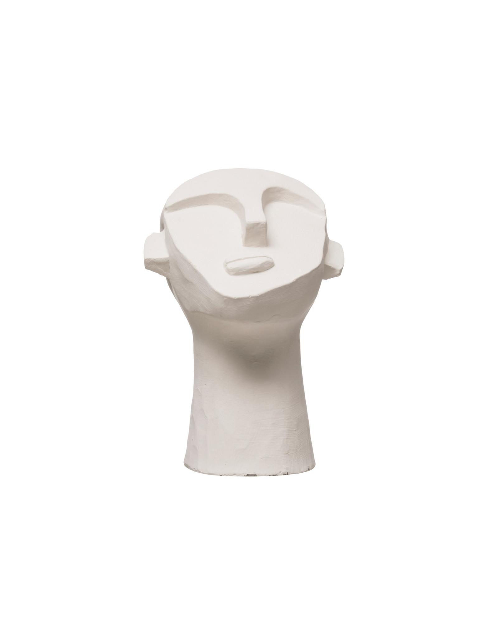 The Florist & The Merchant White Cement Face Sculpture