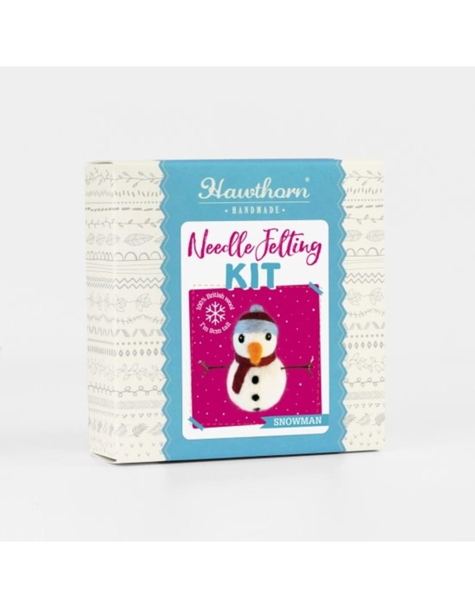 The Florist & The Merchant Mini Snowman Mini Needle Felting Kit