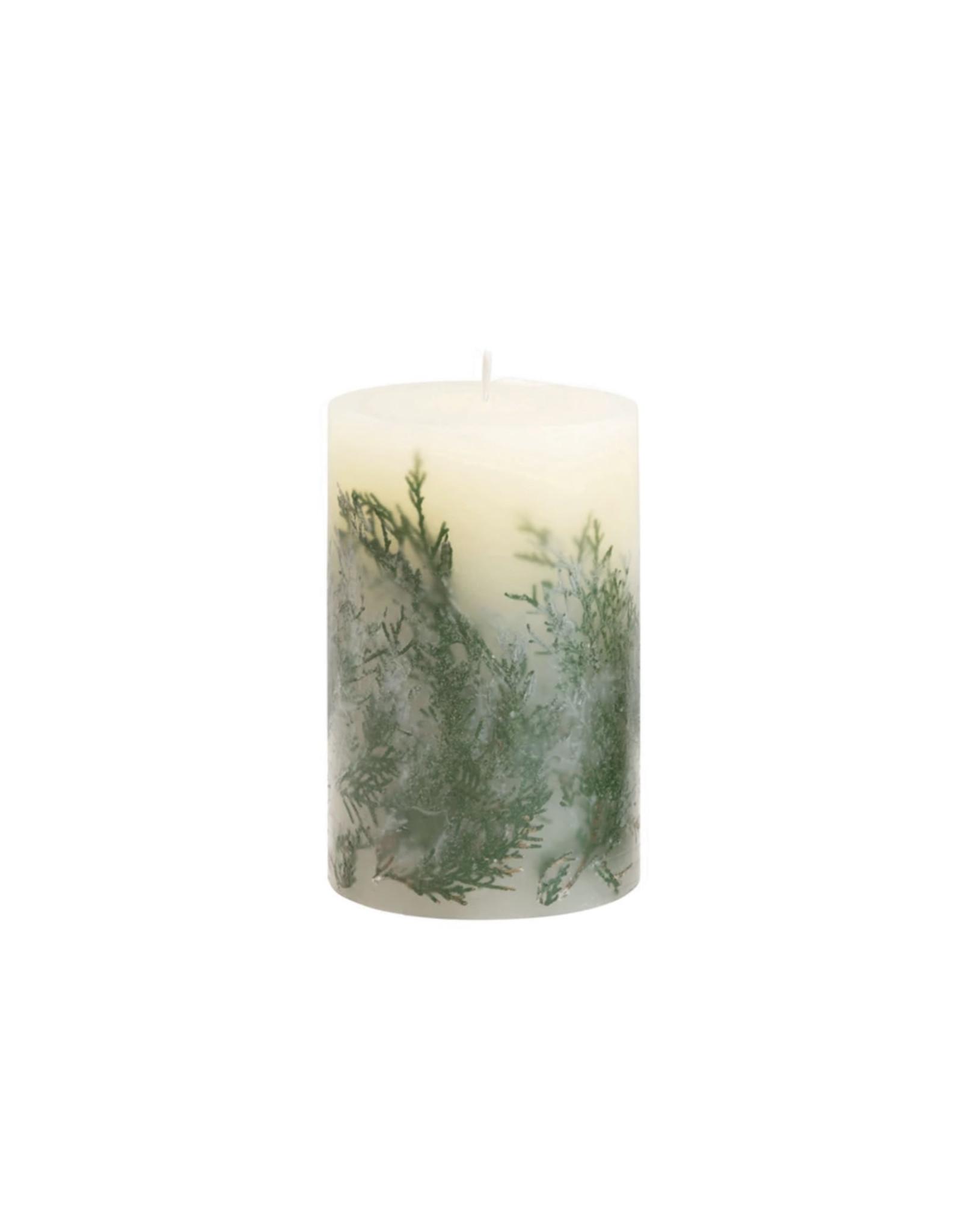 """The Florist & The Merchant 4"""" Fir Scented Pillar Candle"""