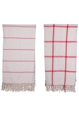 """The Florist & The Merchant 60"""" x 50' Brushed Cotton Throw - 2 Styles"""