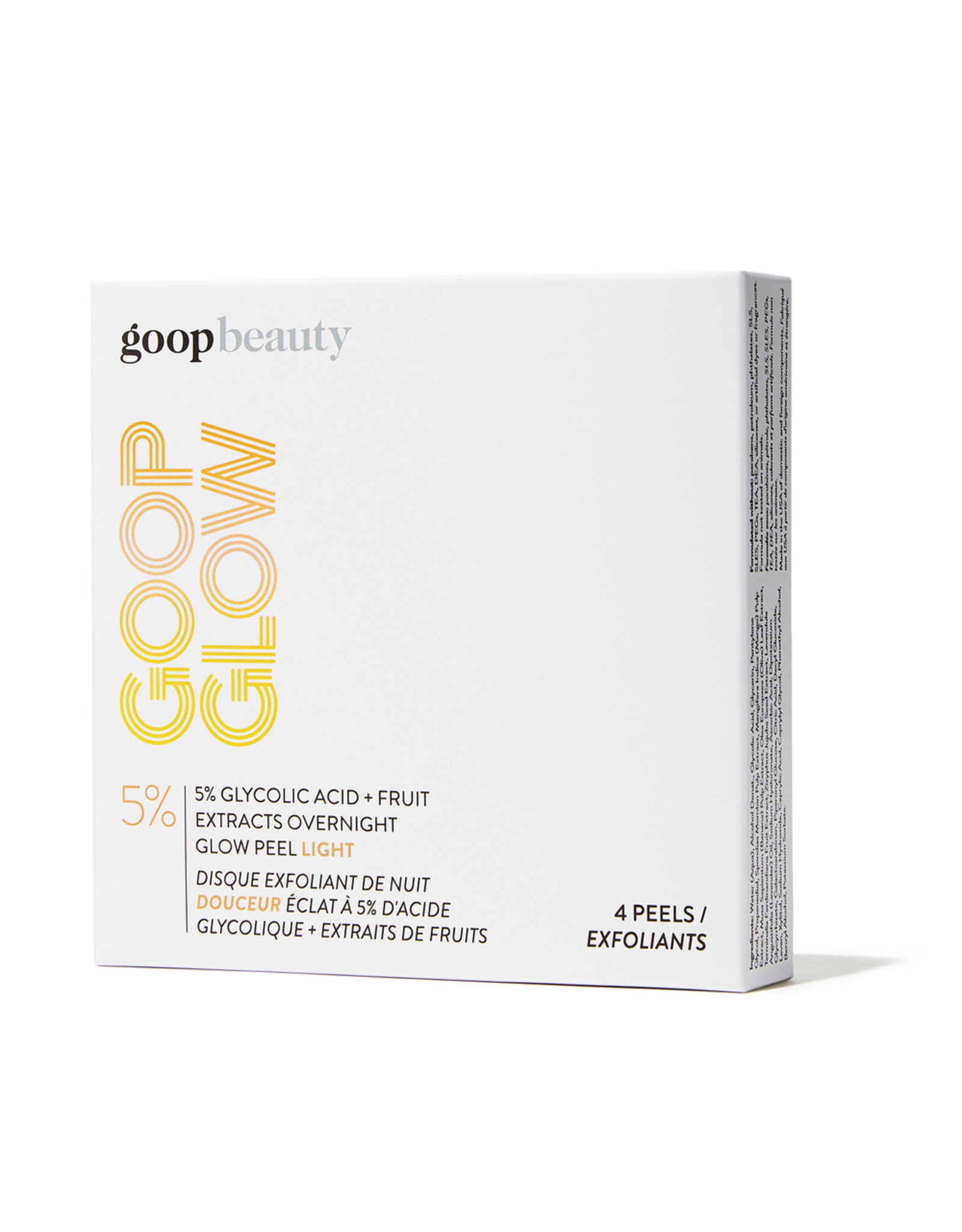 goop Beauty goop Beauty GOOPGLOW 5% Glycolic Acid Overnight Glow Peel Light 4-Pack