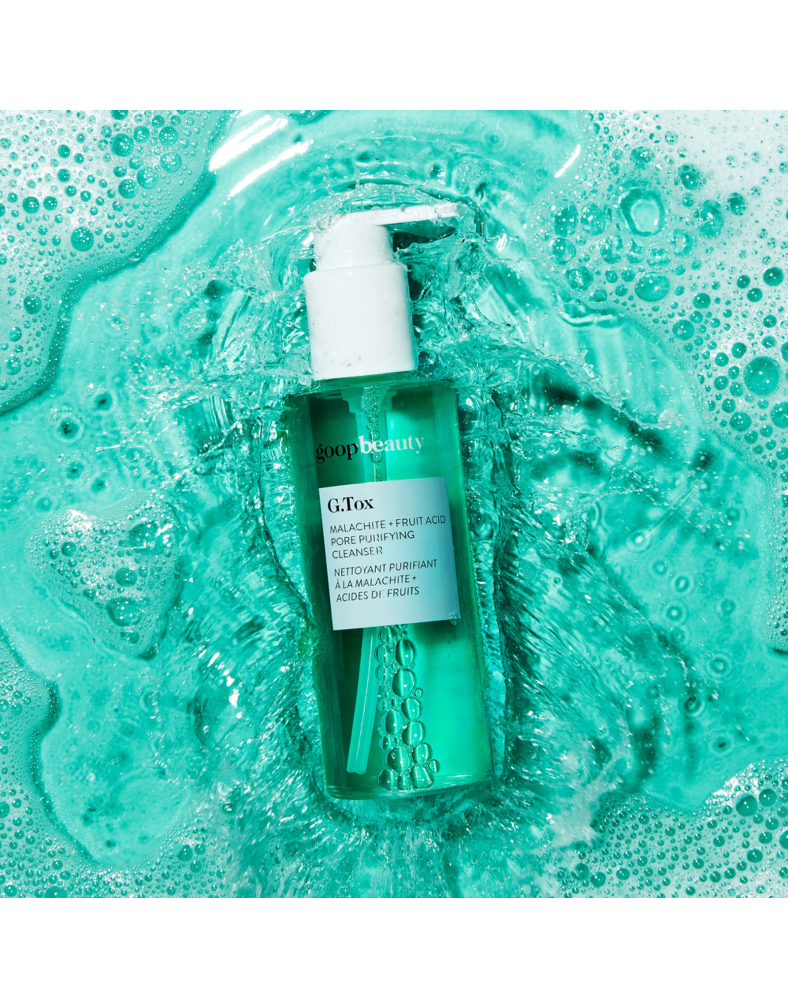goop Beauty goop Beauty G.TOX Malachite + Fruit Acid Pore Purifying Cleanser (Size: 5 fl oz)