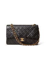 What Goes Around Comes Around Chanel 2.55 Lambskin Bag (Color: Black)