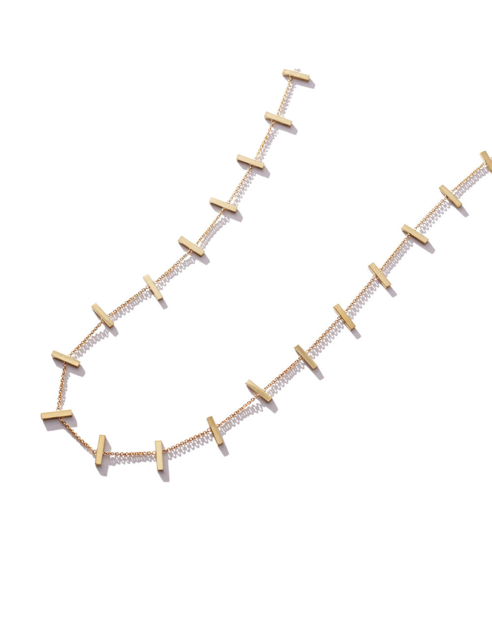 Jennifer Meyer Jennifer Meyer Crossbar Necklace - Yellow Gold