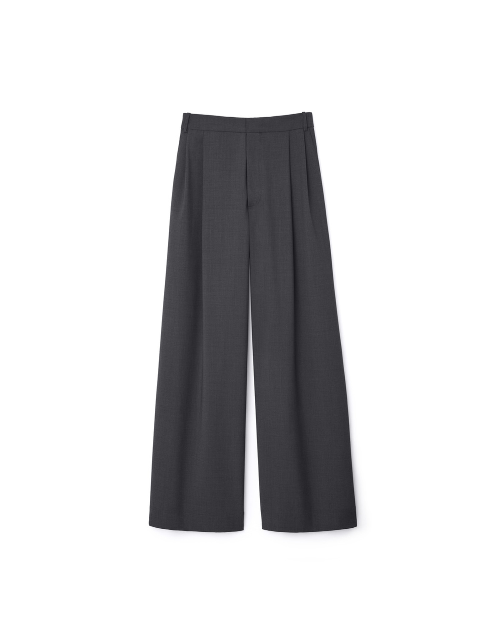 G. Label G. Label Kelly Wide-Leg Trousers (Size: 4, Color: Grey)