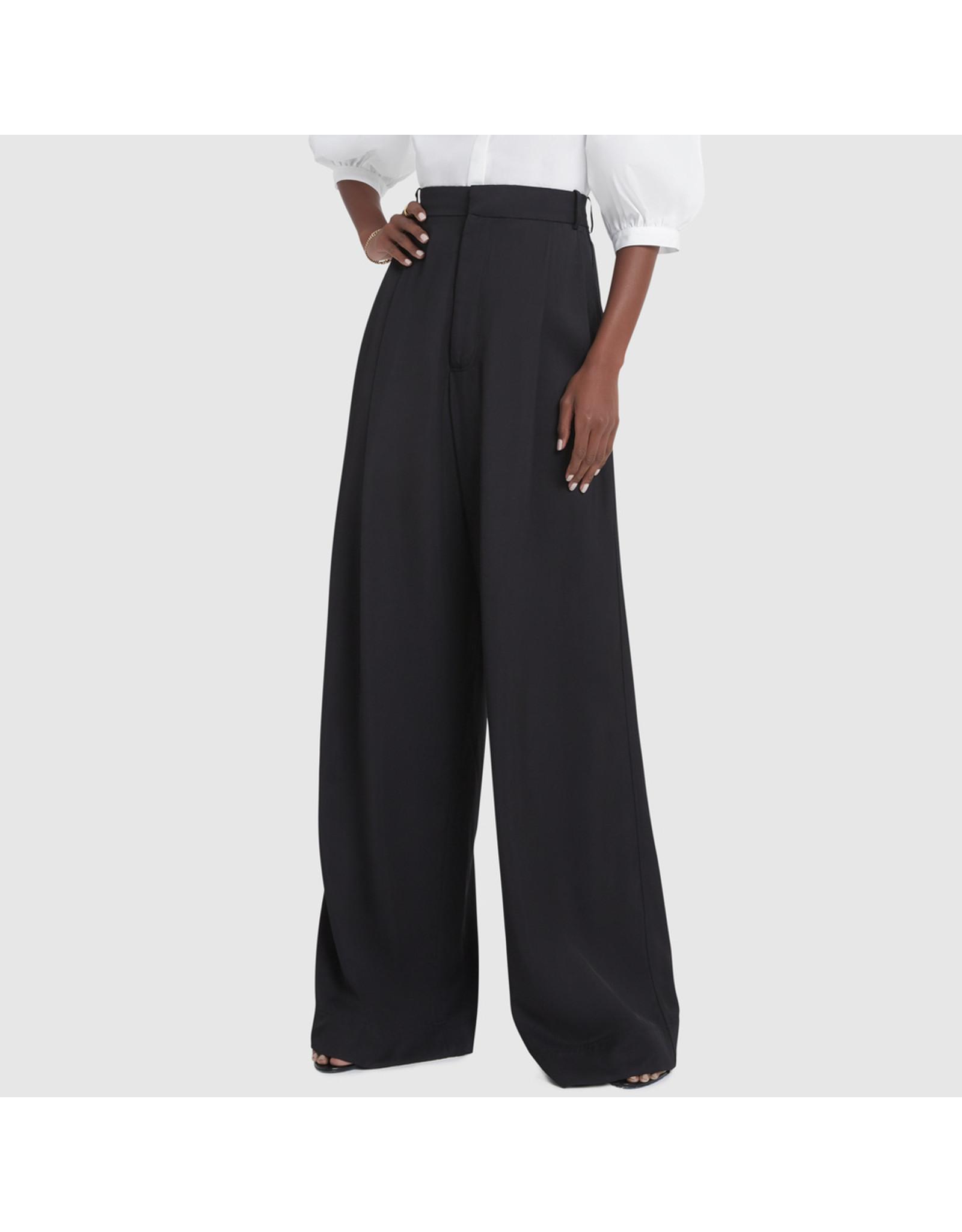 G. Label G. Label Kelly Wide-Leg Trousers (Color: Black, Size: 6)