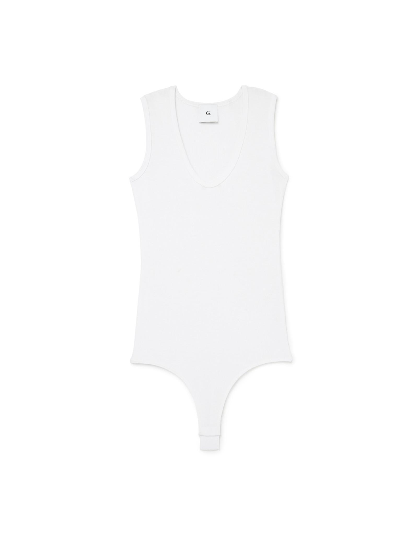 G. Label G. Label Amanda Bodysuit Reg (Color: White, Size: XL)