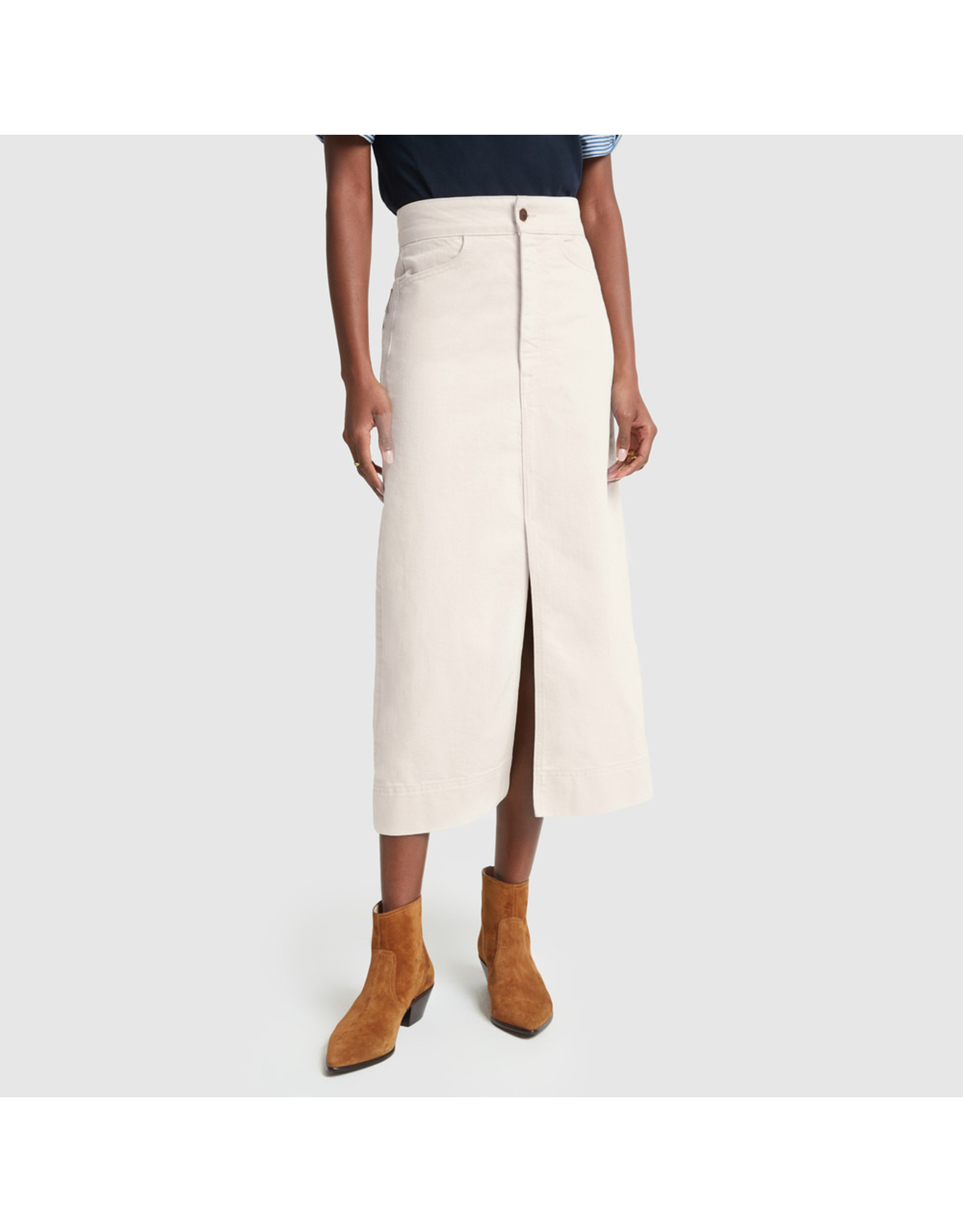 G. Label G. Label Yu Denim Pencil Skirt (Size: 27, Color: Natural)