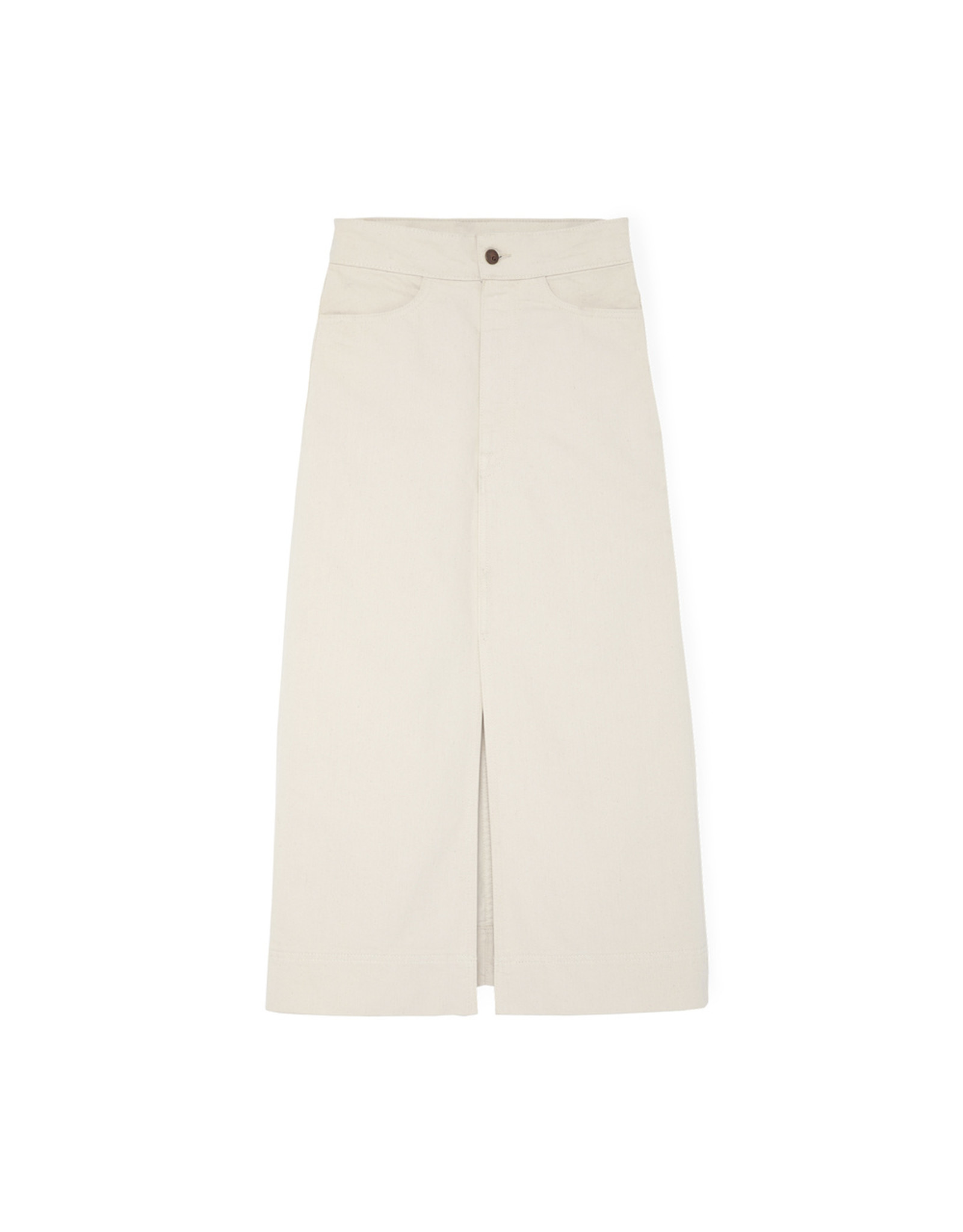G. Label G. Label Yu Denim Pencil Skirt (Size: 24, Color: Natural)