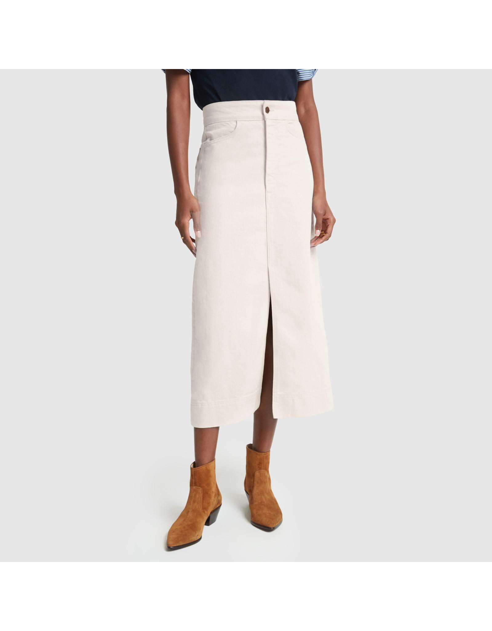 G. Label G. Label Yu Denim Pencil Skirt (Size: 25, Color: Natural)