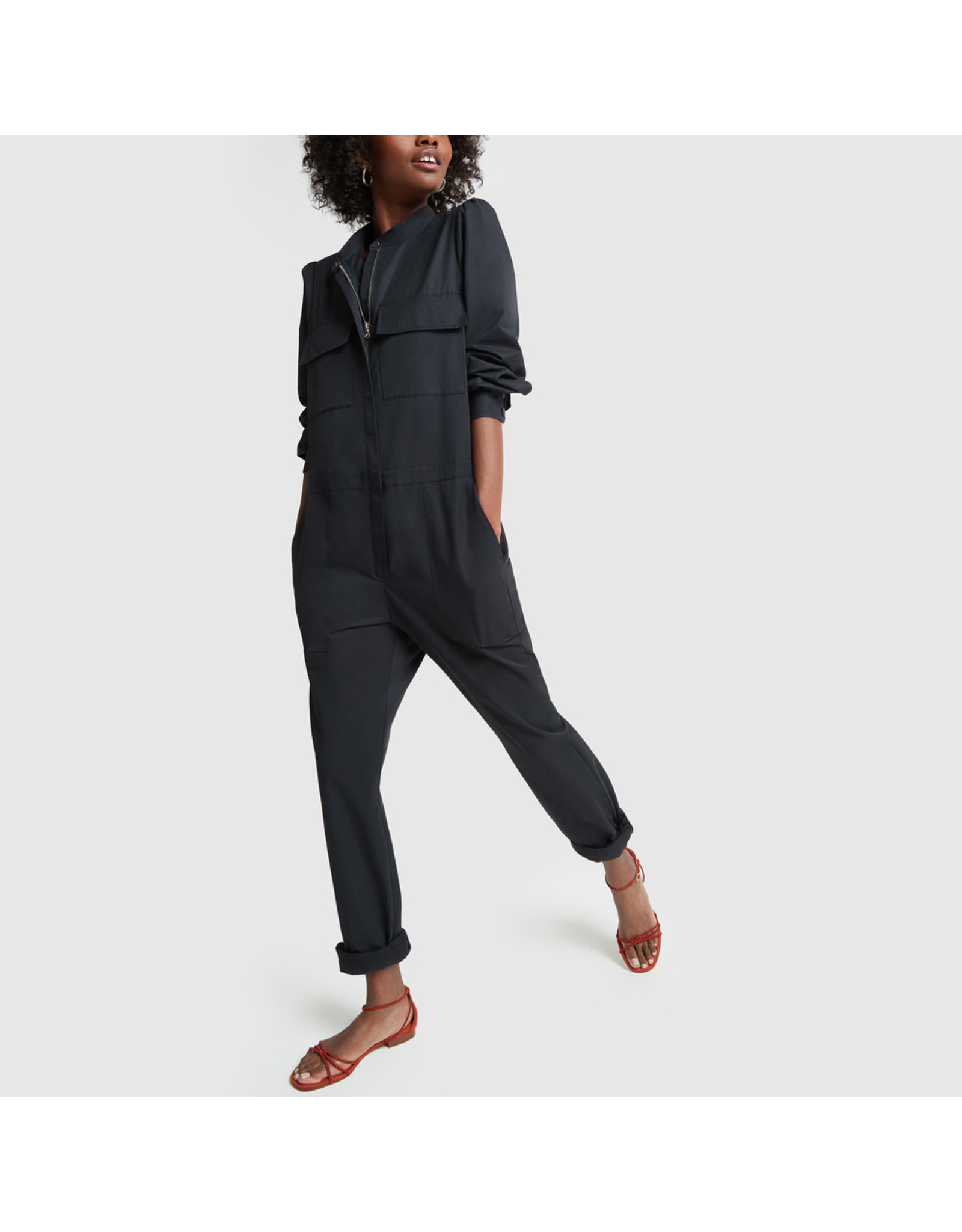 G. Label G. Label Terry Slim Jumpsuit (Size: 4, Color: Navy)