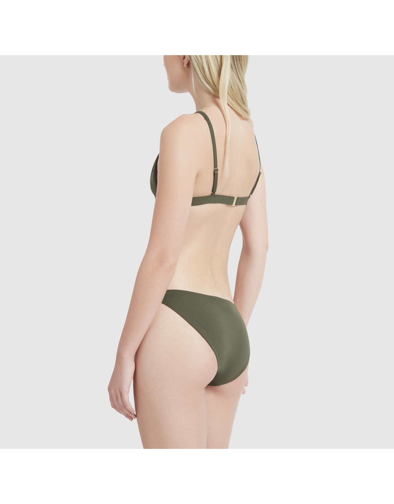 G. Label G. Label Low-Rise Bikini Briefs (Color: Olive, Size: M)