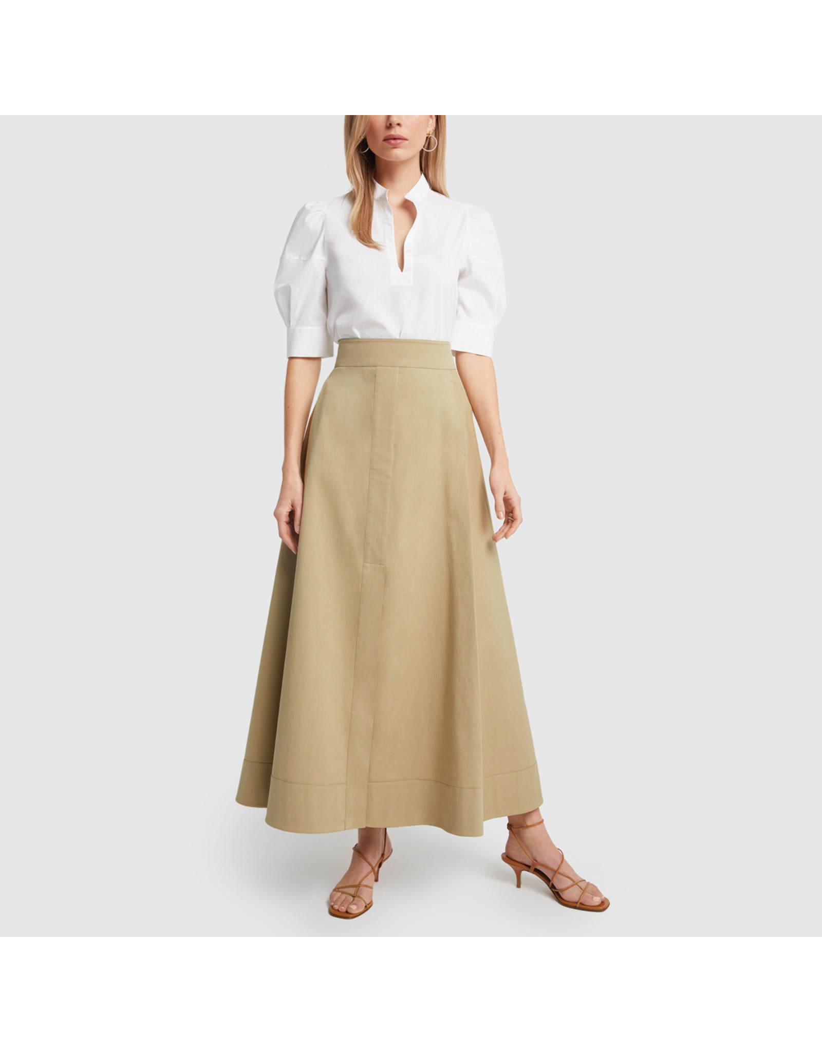 G. Label G. Label Diandra Maxi Skirt (Size: 0, Color: Khaki)