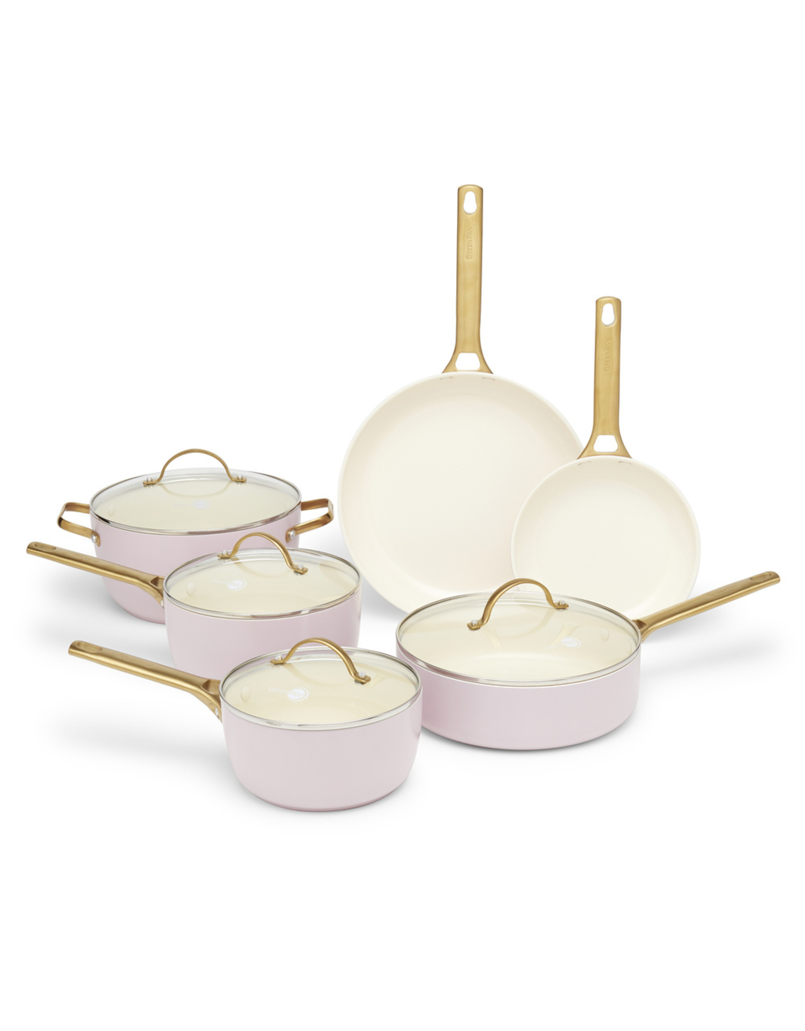 goop x Greenpan goop Exclusive Blush Padova 10-Piece Set (Color: Blush)