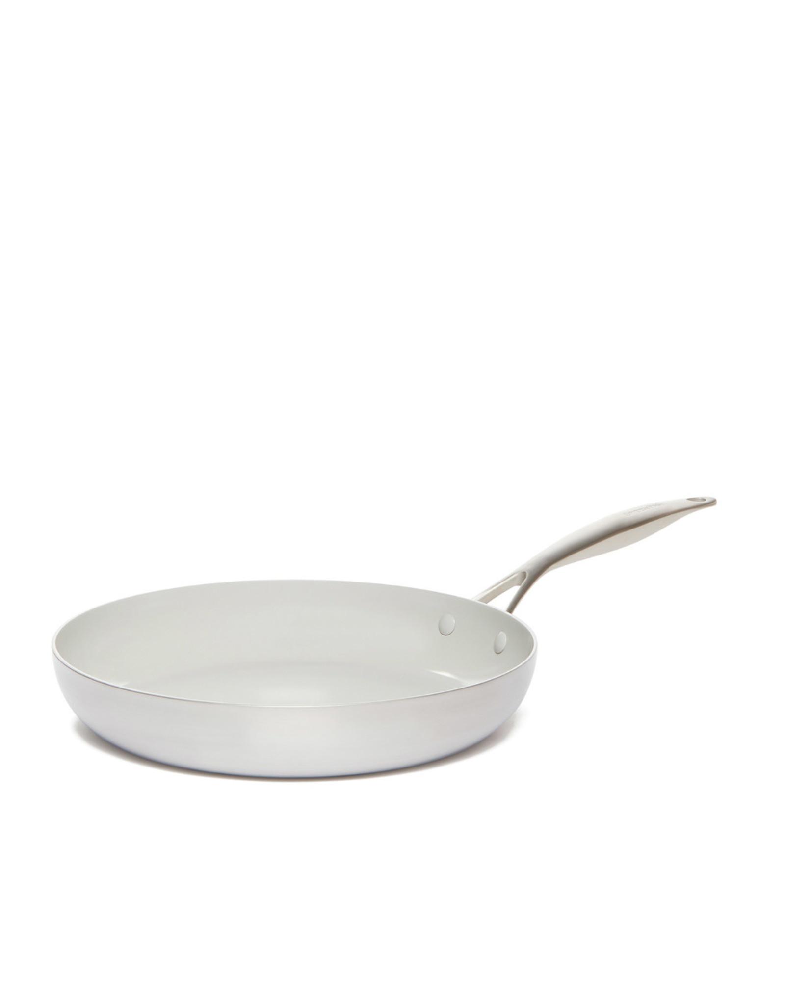 """GreenPan GreenPan Venice Pro Ceramic Non-stick Frypan Set of 2, 10"""" + 12"""" - Silver"""