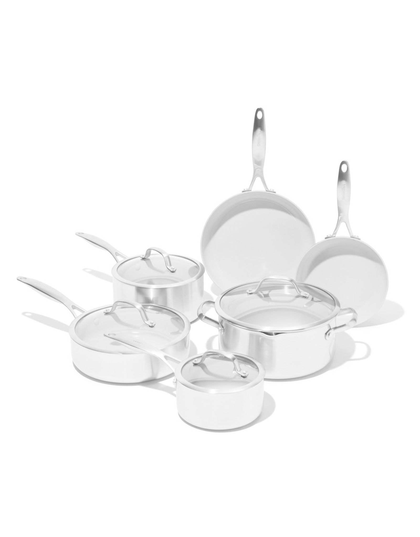 GreenPan GreenPan Venice Pro Ceramic Non-Stick Cookware, 10-Piece Set - Stainless Steel