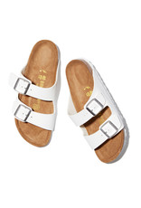 Birkenstock Arizona Birkenstock (Color: White / Birko-Flor, Size: IT37)
