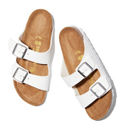 Birkenstock Arizona Birkenstock (Color: White / Birko-Flor, Size: IT41)