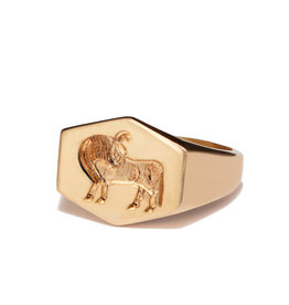 Kim Dunham Kim Dunham Zodiac Sign Gold Rings (Size: 7, Zodiac Sign: Taurus, Color: Yellow Gold)