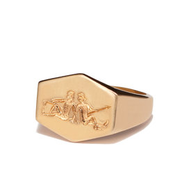 Kim Dunham Kim Dunham Zodiac Sign Gold Rings (Size: 6, Zodiac Sign: Gemini, Color: Yellow Gold)