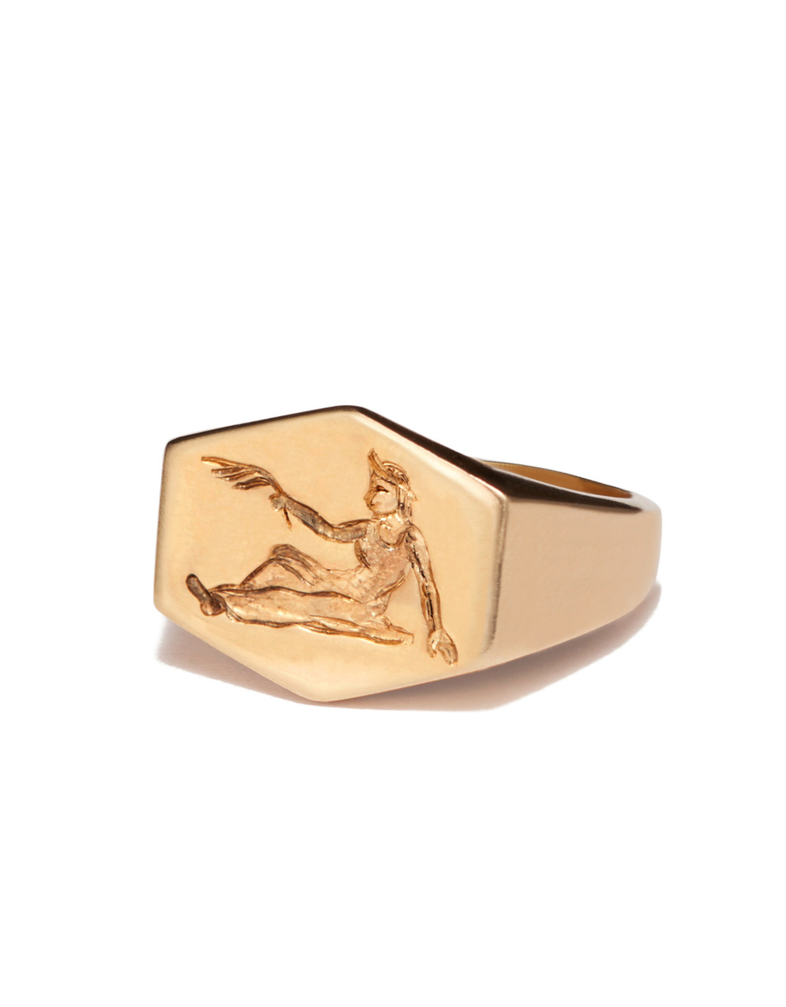 Kim Dunham Kim Dunham Zodiac Sign Gold Rings (Size: 6, Zodiac Sign: Virgo, Color: Yellow Gold)