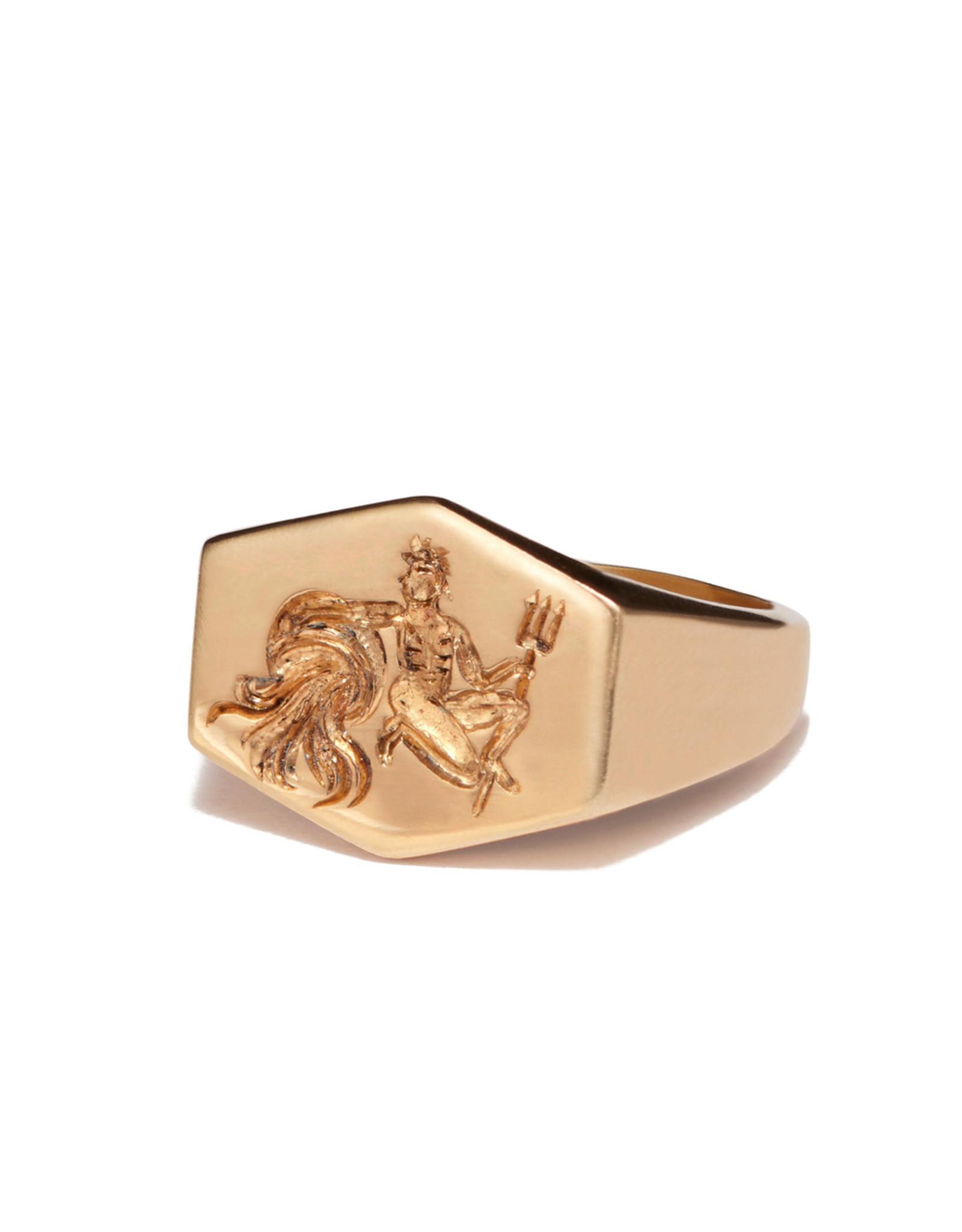 Kim Dunham Kim Dunham Zodiac Sign Gold Rings (Size: 6, Zodiac Sign: Aquarius, Color: Yellow Gold)