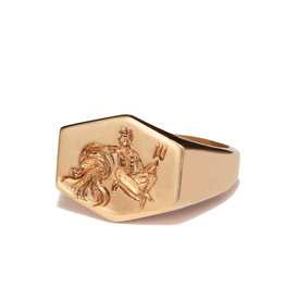 Kim Dunham Kim Dunham Zodiac Sign Gold Rings (Size: 6, Zodiac Sign: Aquarius, Color: Yellow Gold)