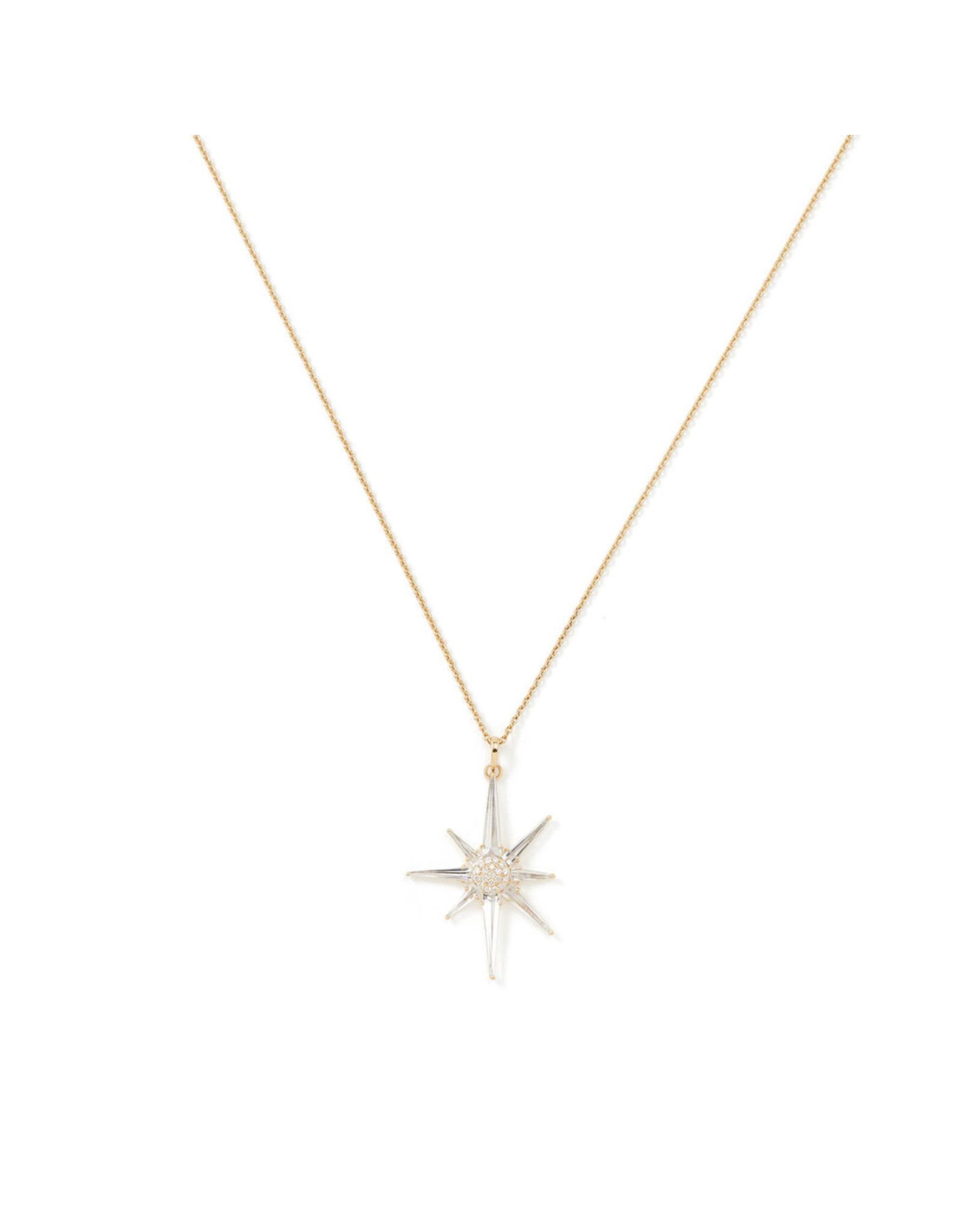 Bondeye Jewelry Bondeye Astraea White Topaz Necklace - Yellow Gold