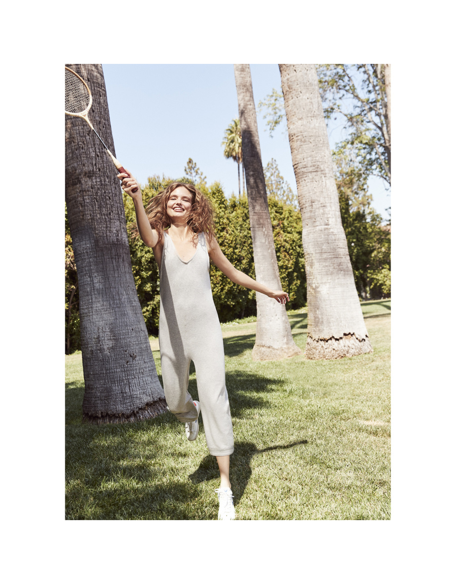 G. Sport G. Sport Lounge Jumpsuit (Color: Grey Heather, Size: XL)