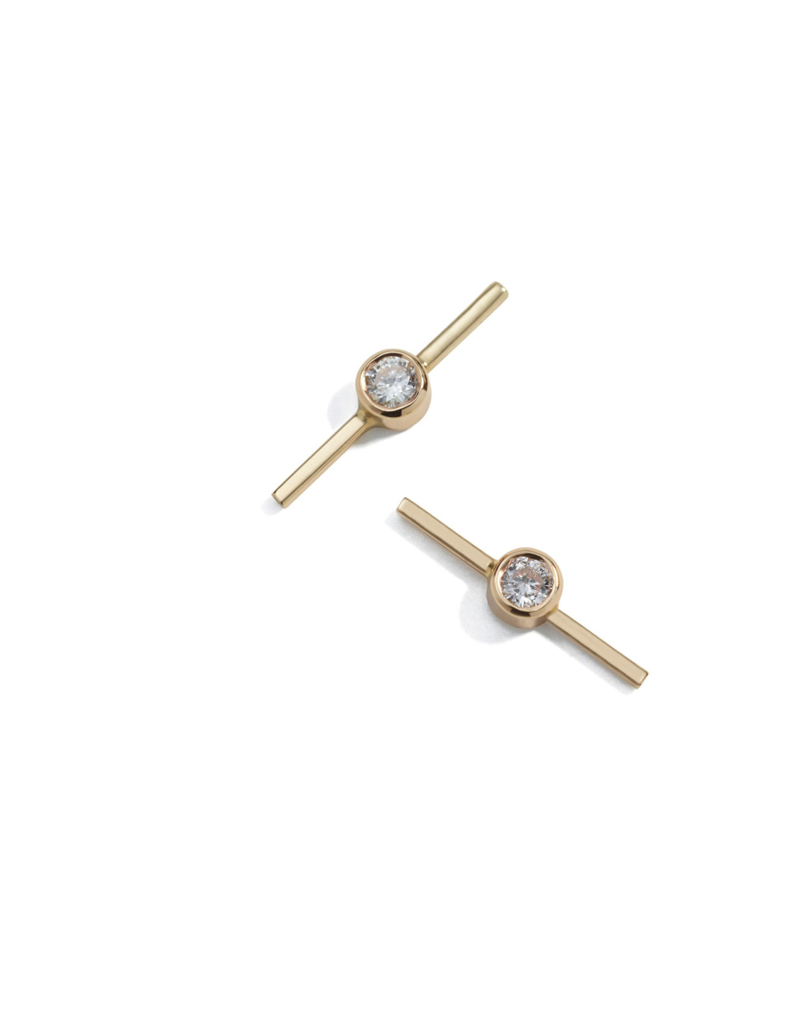 Ariel Gordon Ariel Gordon Diamond Axis Studs - Yellow Gold