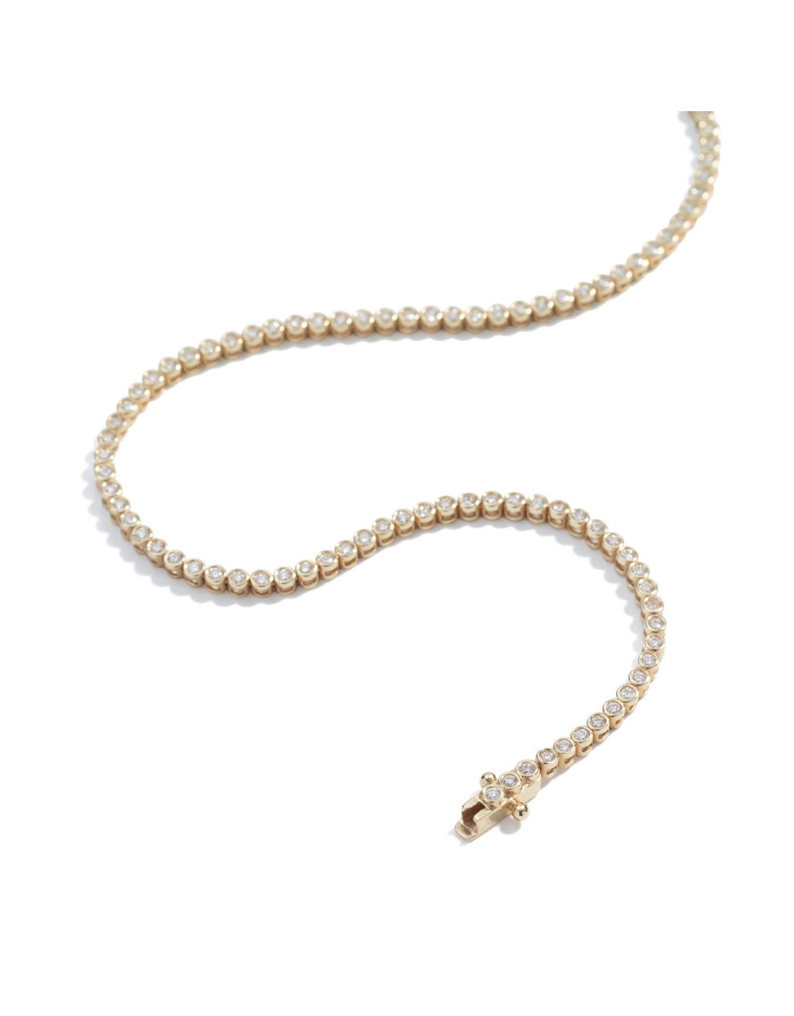 Ariel Gordon Ariel Gordon  Diamond Bezel Tennis Bracelet (Color: Yellow Gold)