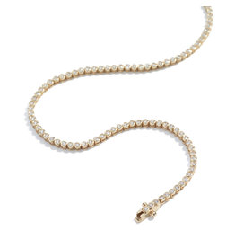 Ariel Gordon Ariel Gordon  Diamond Bezel Tennis Bracelet (Color: Yellow Gold)
