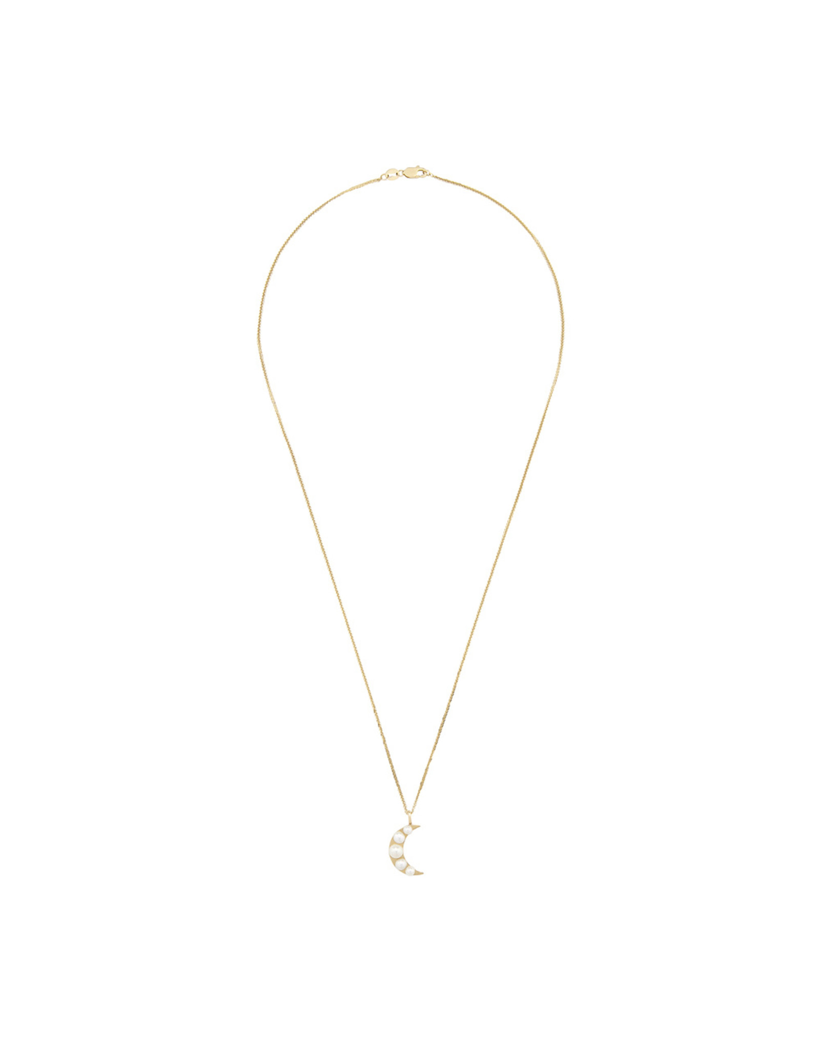Ariel Gordon Ariel Gordon Lido Moon Pendant Necklace (Color: Yellow Gold/Pearl)