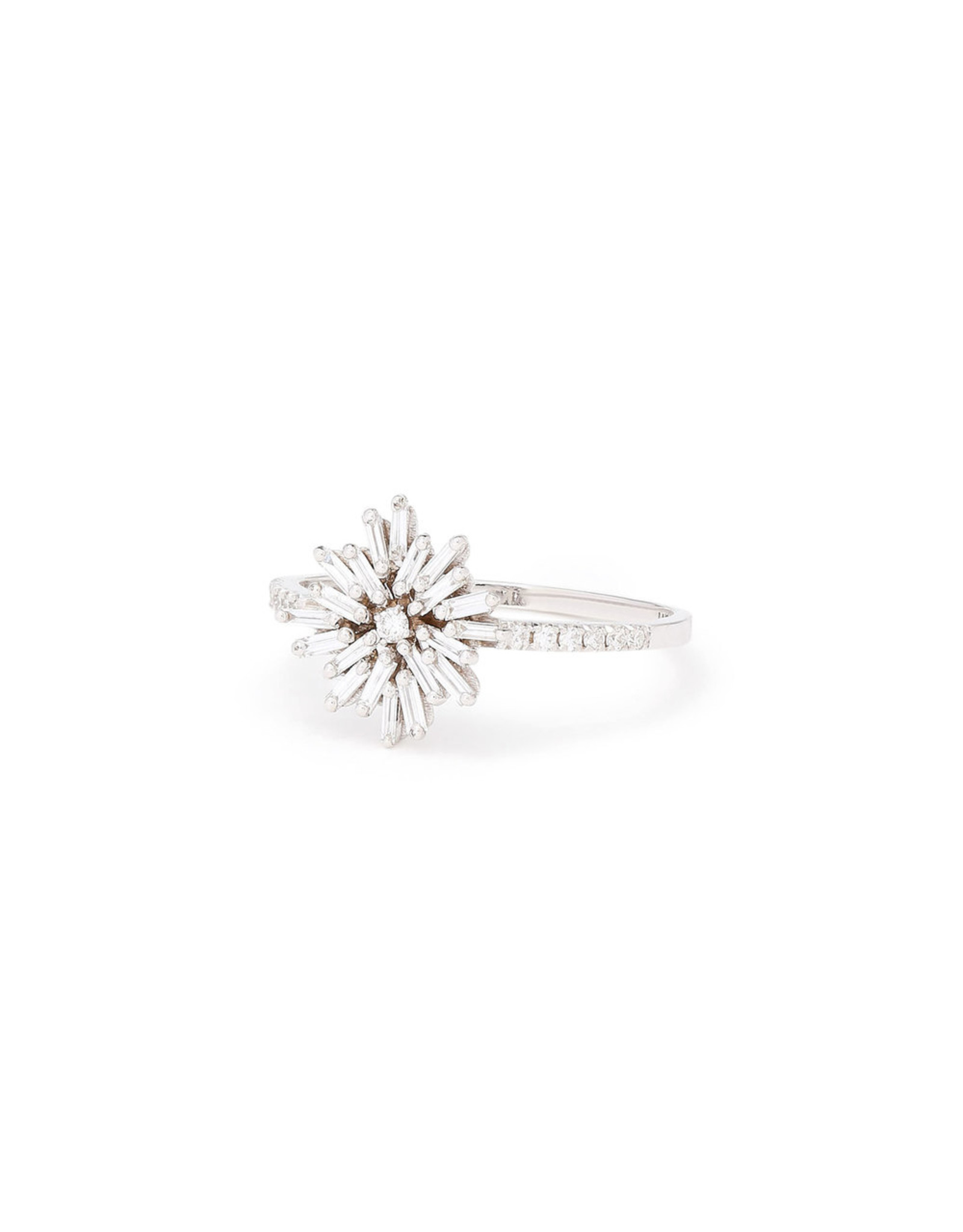 Suzanne Kalan Suzanne Kalan Small Diamond Firework Ring (Size: 6, Color: White Gold/White Diamond)