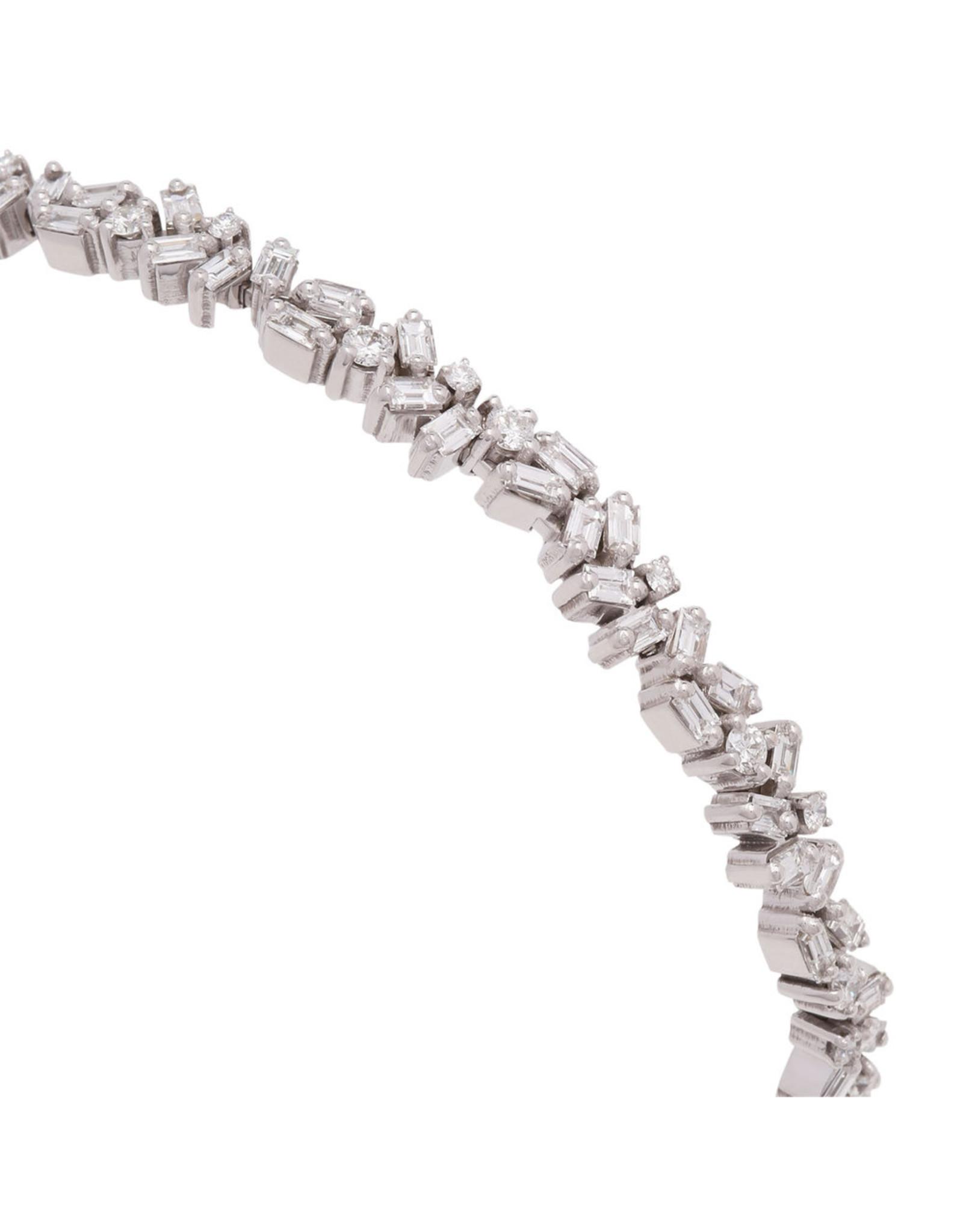 Suzanne Kalan Suzanne Kalan Diamond Firework Bangle (White Gold/White Diamond)
