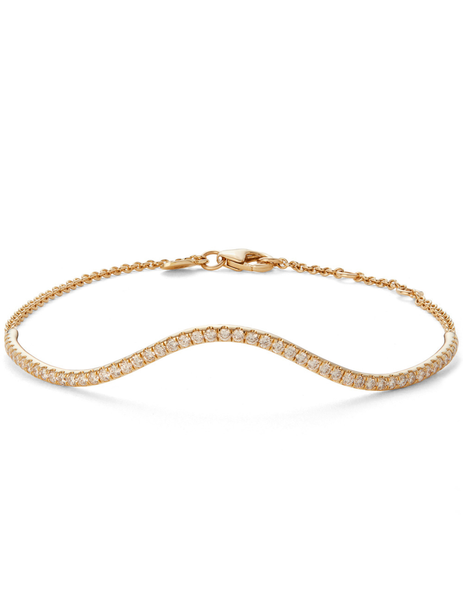 Bondeye Jewelry Bondeye Wave Bracelet (Color: Yellow Gold)