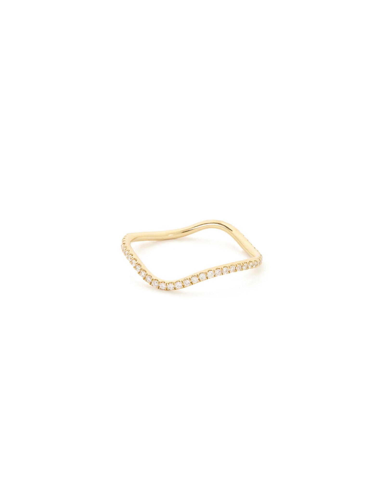 Bondeye Jewelry Bondeye Wave Diamond Eternity Band (Color: Yellow Gold, Size: 4)