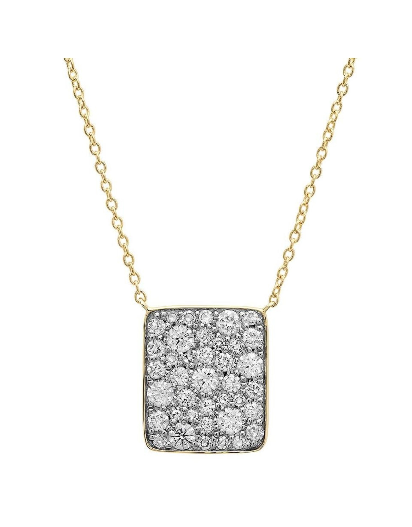 Eriness Eriness 14K Yellow Gold Diamond Cluster Necklace (Color: Yellow Gold / White Diamonds)