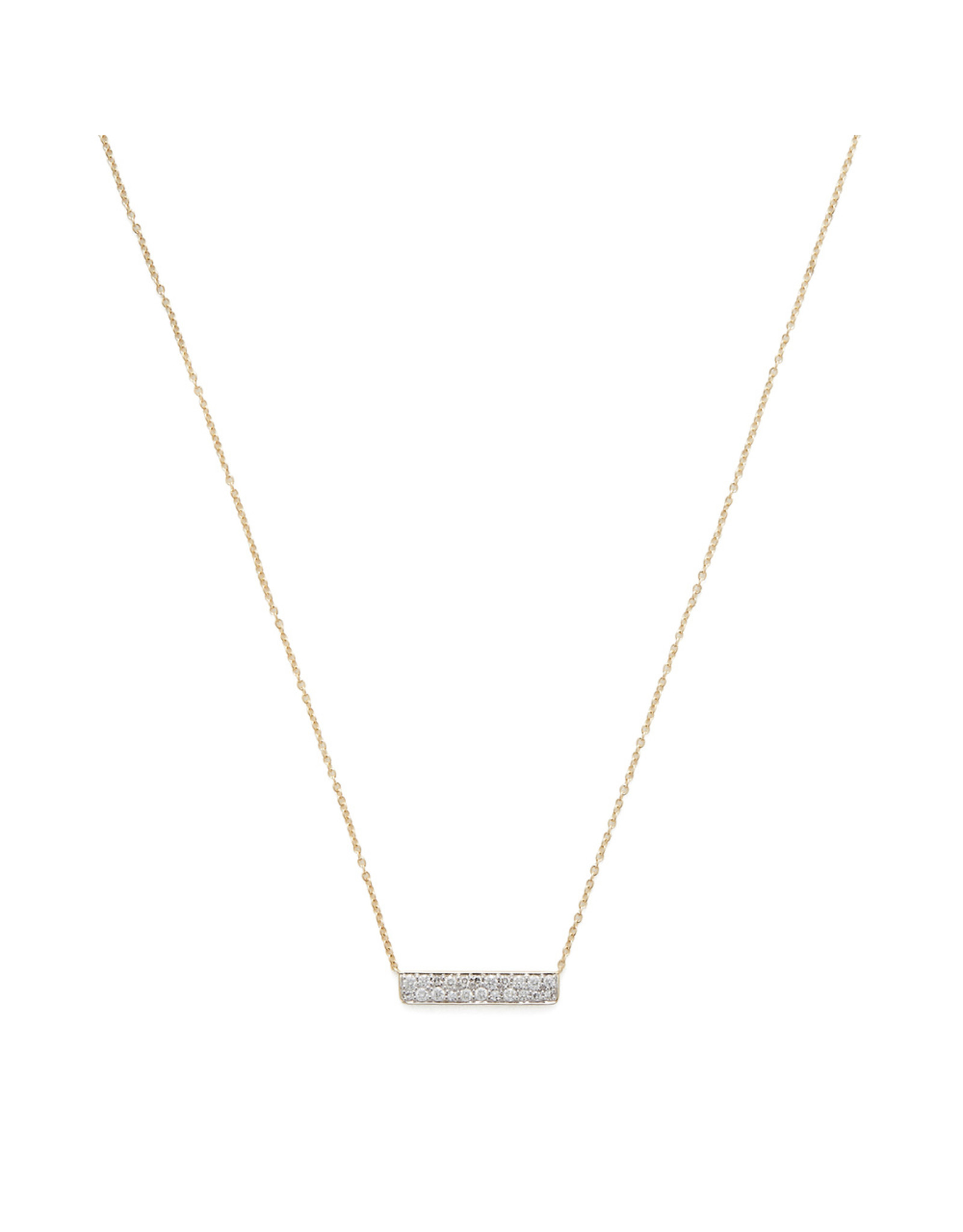 Eriness Eriness Diamond Staple Yellow-Gold Necklace - Yellow Gold / White Diamond