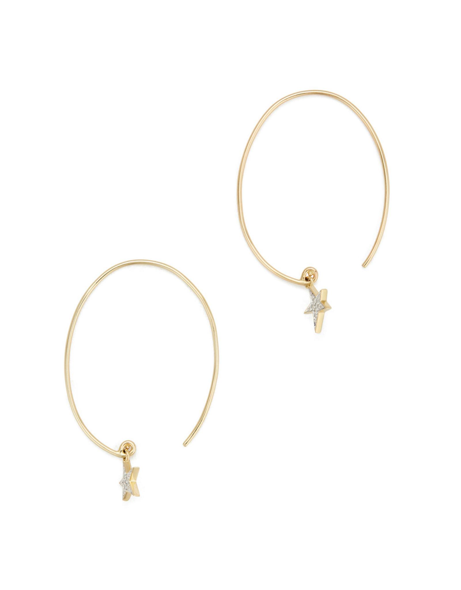 Eriness Eriness Diamond Star Charm Yellow-Gold Earrings - Yellow Gold