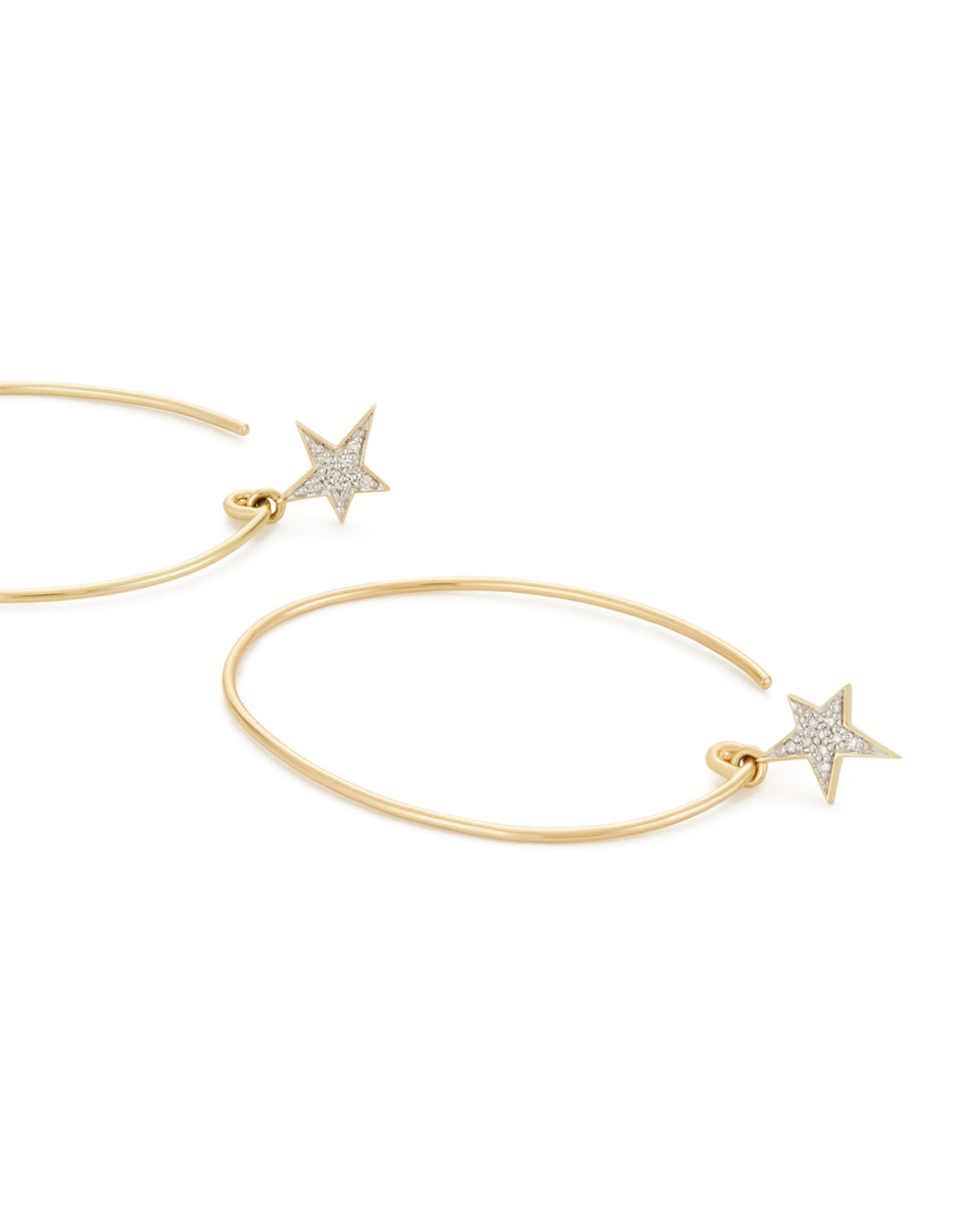 Eriness Eriness Diamond Star Charm Yellow-Gold Earrings - Yellow Gold